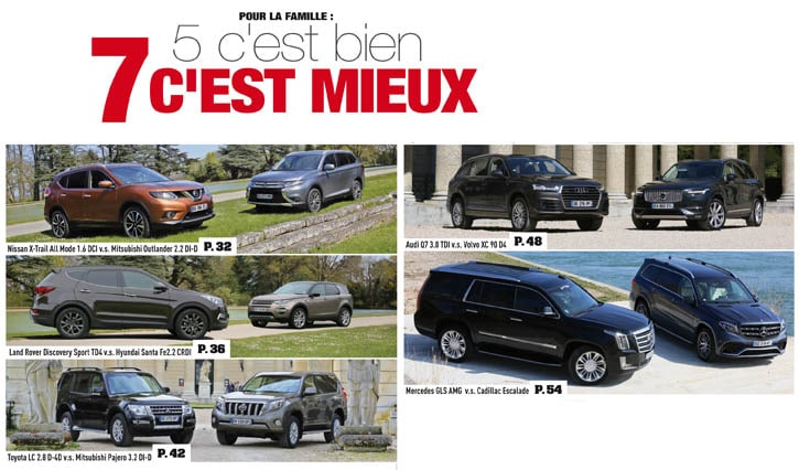 comparatif suv 7 places generation 4x4 magazine. Black Bedroom Furniture Sets. Home Design Ideas