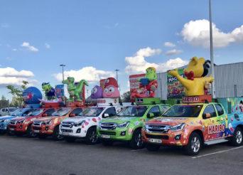 La caravane Haribo roulera en Isuzu D-Max